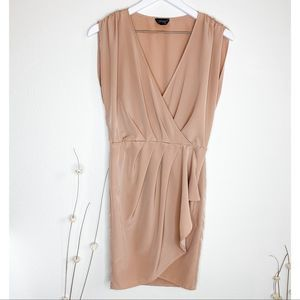 TOPSHOP Size 2 Sleeveless Wrap Dress Mauve Pink